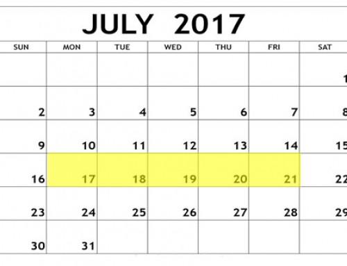 Upcoming Food Holidays: July 17 – 21, 2017