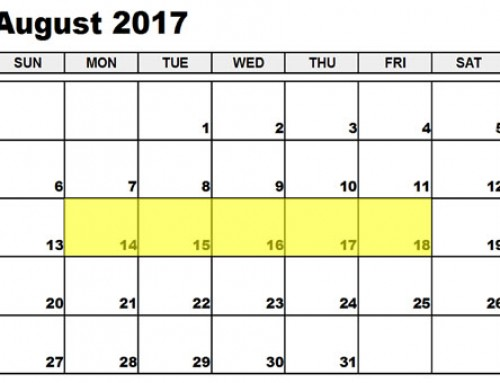 Upcoming Food Holidays: August 14-18, 2017