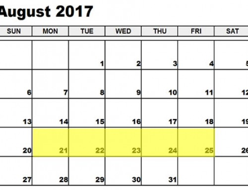 Upcoming Food Holidays: August 21-25, 2017