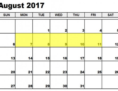 Upcoming Food Holidays: August 7-11, 2017