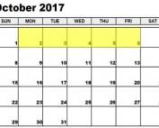 Oct 2-6 2017 Food Holidays