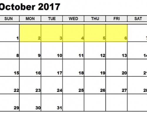 Upcoming Food Holidays: Oct 2-6, 2017