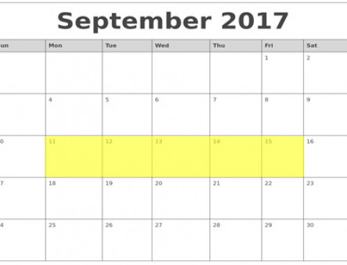 Upcoming Food Holidays: Sep 11 – 15, 2017