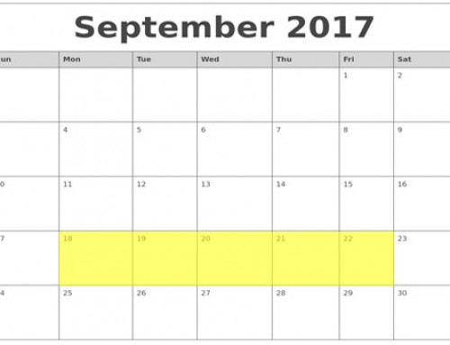 Upcoming Food Holidays: Sep 18 – 22, 2017