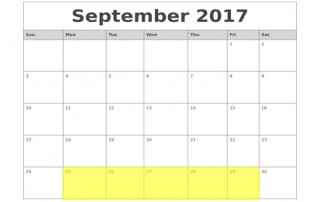 Sept 25-29 2017 Food Holidays