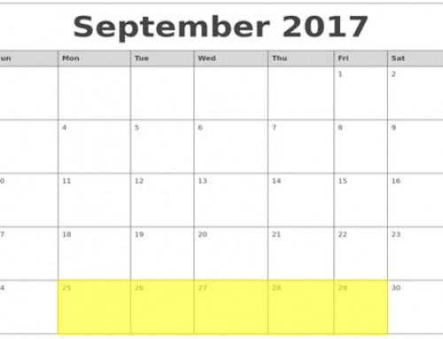 Upcoming Food Holidays: Sep 25 – 29, 2017