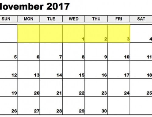 Upcoming Food Holidays | Oct 30 – Nov 3, 2017