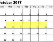 October 16-20 2017 Food Holidays