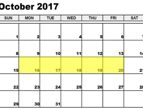 Upcoming Food Holidays: Oct 16-20, 2017