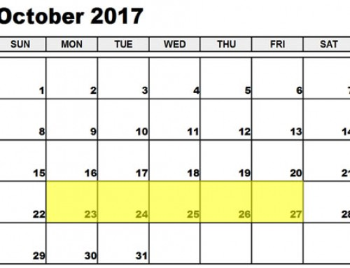 Upcoming Food Holidays: Oct 23-27, 2017