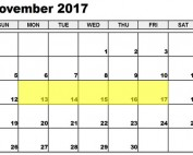 Nov 13-17 2017 Food Holidays