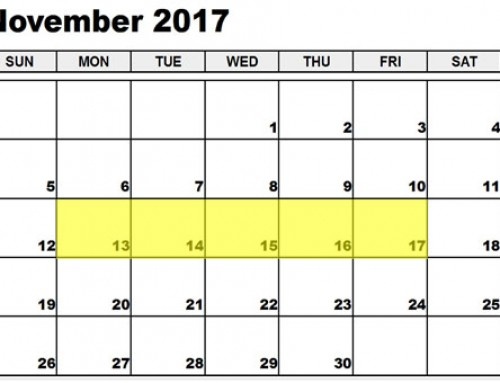 Upcoming Food Holidays: Nov 13 – 17, 2017