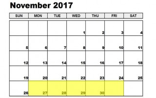 Nov 27-1 2017 Food Holidays