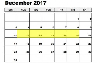 Dec 11-15 2017 Food Holidays
