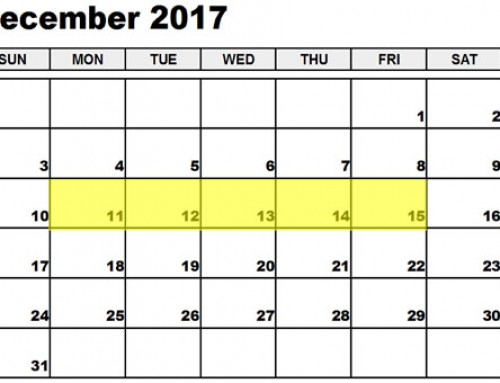 Upcoming Food Holidays: Dec 11 – 15, 2017