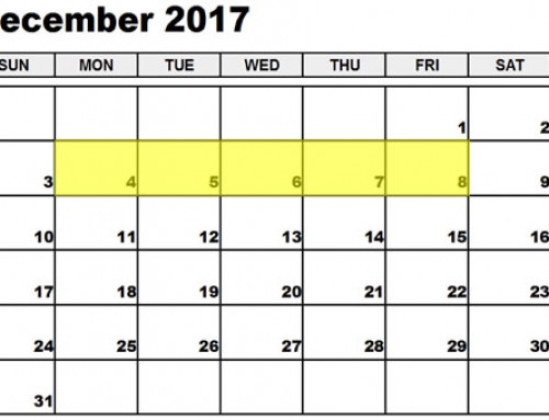 Upcoming Food Holidays: Dec 4-8, 2017