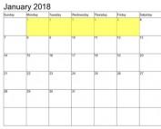 Jan 1-5 2018 Food Holidays