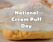 national cream puff day