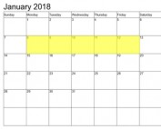 Jan 8-12 2018 Food Holidays