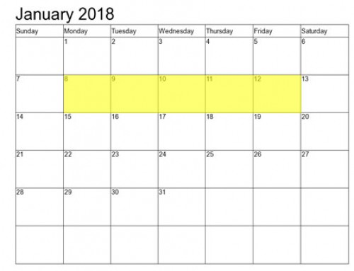 Upcoming Food Holidays: January 8-12, 2018