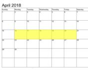 Apr 16-20 2018 Food Holidays