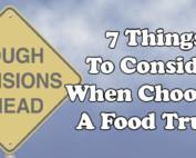 choosing a food truck