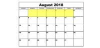 July 30-3 2018 Food Holidays