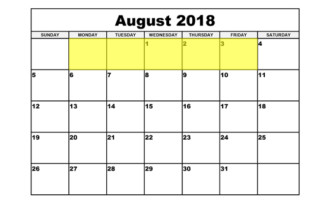July 30-3 2018 Food Holidays