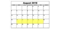 Aug 20-24 2018 Food Holidays