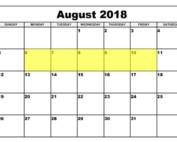 Aug 6-10 2018 Food Holidays