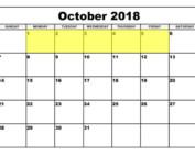 Oct 1-5 2018 Food Holidays