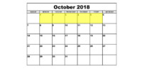 Oct 1-5 2018 Food Holidays