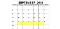 Sep 24-28 2018 Food Holidays