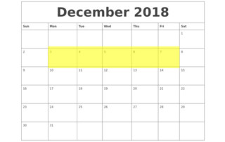 Dec 3-7 2018 Food Holidays