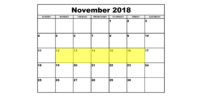Nov 12-16 2018 Food Holidays