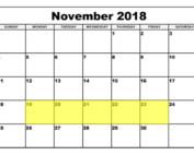 Nov 19-23 2018 Food Holidays