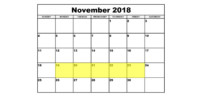 Nov 19-23 2018 Food Holidays