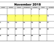 Nov 5-9 2018 Food Holidays