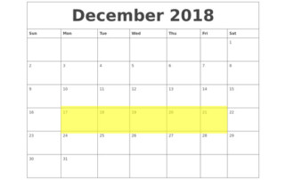 Dec 17-21 2018 Food Holidays