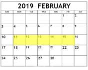 Feb 11-15 2019 Food Holidays