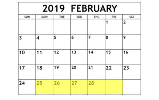 Feb 25-1 2019 Food Holidays