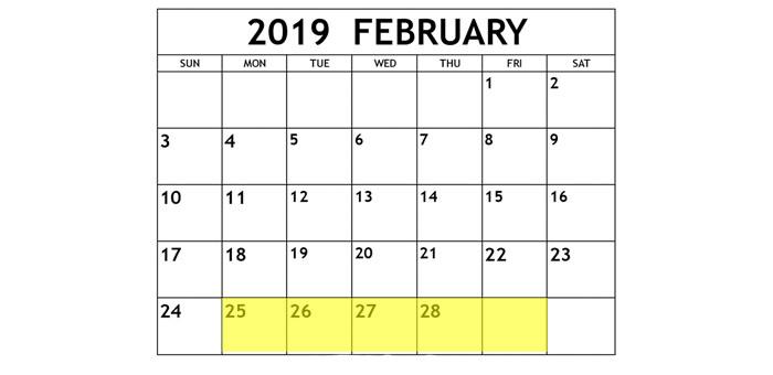 Feb 25-1 2019 Food Holidays