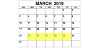 Mar 25-29 2019 Food Holidays