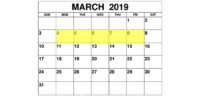 Mar 4-8 2019 Food Holidays